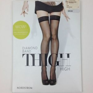 Nordstrom Diamond Band Thigh High Pantyhose